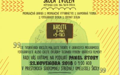 """Pozvánka na """"Panel Story"""" 2016"""